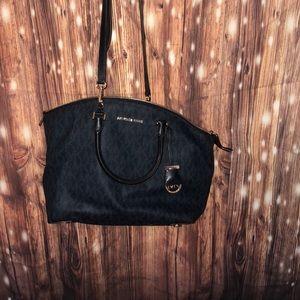 Authentic navy blue Michael Kors purse